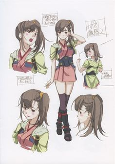 'Kabaneri of the Iron Fortress' character design by Haruhiko Mikimoto Character Model Sheet, Female Character Design, Character Design References, Character Concept, Concept Art, Character Reference, Anime Drawing Books, Book Drawing, Manga Drawing