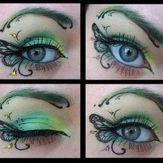Adorable butterfly make-up