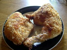 "The OMG Oven ""fried"" chicken. It was pretty good - I made the breasts with Club crackers and I brined the chicken beforehand. I also baked it on a cooling rack on top of a cookie sheet. I was told it was pretty good by everyone. Next time I will try it with Panko."