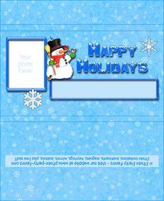 Snowman Holiday Printable Chocolate Bar Wrapper - FREE