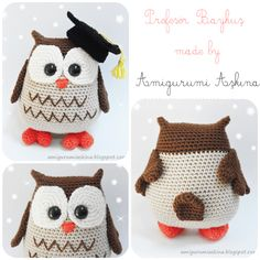 """Amigurumi"" žaislai pradedantiesiems - Her Crochet Crochet Owls, Crochet Amigurumi Free Patterns, Crochet Animals, Knitting Patterns, Knit Crochet, Owl Crafts, Yarn Crafts, Owl Patterns, Crochet Projects"