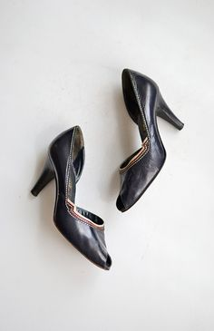 vintage 1950s heels | Noted Novels Heels | Adored Vintage