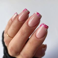 Nail Art Cute, Cute Gel Nails, Cute Acrylic Nails, Pretty Nail Art, Spring Nails, Summer Nails, Short Nail Designs, Nail Designs Floral, Nail Design For Short Nails