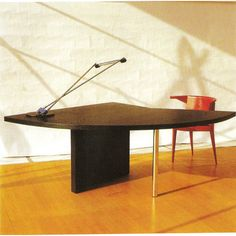 "Lazar Markovich Lissitzky's ""Table of the Conferencier"" was designed in 1923. Made in German by Tecta."