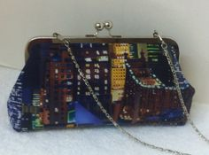 Framed Clutch Purse in New York Skyline Print by TWOGREENPARROTS, $40.00