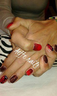 Rosso rosso glitter coccinella