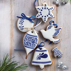 delft blue china style cookies