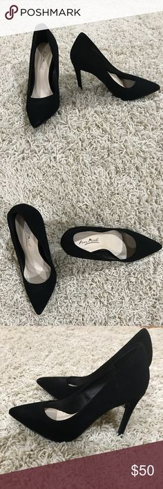 Brand new sexy suede pumps Brand new black sued pumps size 5.5 in woman's Anne Michelle Shoes Heels
