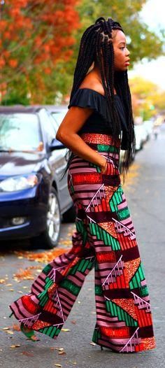 KENYA - African Wide Leg Palazzo Pants. Ankara | Dutch wax | Kente | Kitenge | Dashiki | African print bomber jacket | African fashion | Ankara bomber jacket | African prints | Nigerian style | Ghanaian fashion | Senegal fashion | Kenya fashion | Nigerian fashion | Ankara crop top (affiliate)