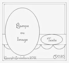 Claralesfleurs - Sketch de carte CD030