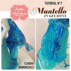 Mantello di Elsa in gelatina _ Coat of Elsa (gelatin) - CakesDecor