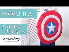 MOCHILA VUELTA AL COLE ESCUDO CAPITAN AMERICA - YouTube