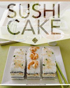 Sushi...Cake? Yes, it's a thing. Check out the full recipe by clicking through the image.