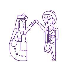 Line illustration - vector | Sardines Competition Festas de Lisboa'14 on Behance