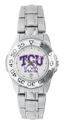 Texas Christian University Horned Frogs TCU Ladies Sports Steel Watch Ladies Sports Steel Watch by SunTime. $49.95