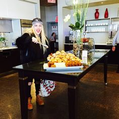 """""""All for me? This @aircanada lounge is the best!!! #aircanadayyz #nyfw"""""""