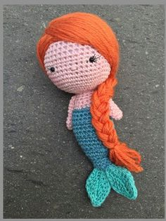 ♡ Mia Mermaid crochet amigurumi cotton by Asiesmx on Etsy