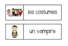 Primary French Immersion Resources: Le vocabulaire de l'Halloween