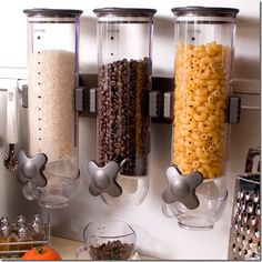 cereal dispensers for coffee, pasta, rice or other ingredients you use often