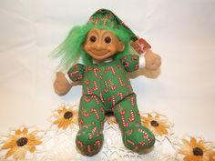 Christmas Troll~ Kiss me Baby I am Your Present!  1980s Russ Berrie and Company Inc. Troll,  Novelty Toy Made in China, Collectible Troll by OutrageousVintagious on Etsy