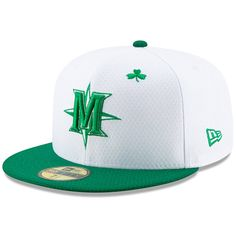 best website fd6bc 5986e Men s Seattle Mariners New Era White Kelly Green 2019 St. Patrick s Day  On-Field 59FIFTY Fitted Hat,  39.99