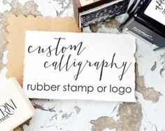 Custom Stamp- Custom Logo Stamp, Business Card Stamp, Personalized Stamp - Custom Business Stamp, Custom Rubber Stamp, Branding Stamp. Perfect for business cards, and branding. -----------------------------------  ATTENTION: You MUST provide your own artwork for this item!! If you need us to create something please message us- PRIOR to purchasing. If you enter text for the stamp in the notes we will simply make a stamp of it in News Gothic Condensed font.  ::Instructions…
