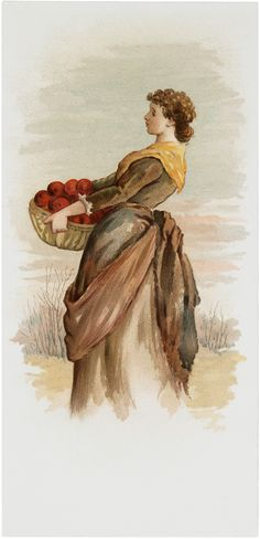 Apple Harvest Lady Image! - The Graphics Fairy