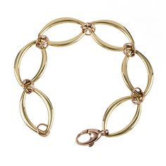 Women's 14KT Yellow and Rose Gold Mixed Link Bracelet. BUY THIS BEAUTIFUL BRACELET NOW AT:  www.jryanjewelry.storenvy.com