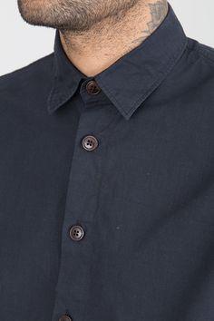 Folded Elbow Shirt - Nearly Black