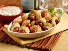 al fresco Buffalo Bistro Bites – Spicy Pigs in a Blanket...  Have your Super Bowl party plans yet?