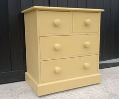Customers own furniture pieces now painted in Farrow & Ball 'Sudbury Yellow'. Farrow And Ball Paint, Farrow Ball, My Room, Old Houses, Painted Furniture, Paint Colors, Colours, Refurbishment, Yellow