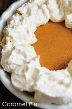 Caramel Pie Recipe - Caramel Pie made from scratch makes a delicious dessert for the holidays and special occasions.