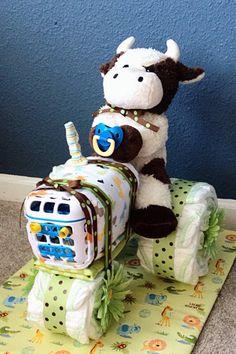 Gâteau de couches de tracteur