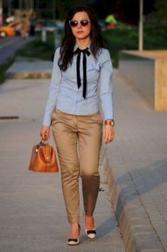 33 Elegant Work Outfits with Flats Every Woman Should Own