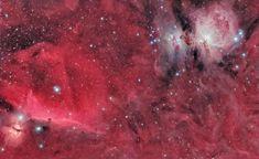 Linha D'Água Imagens Astronômicas: Grande Nuvem Molecular de Órion e  Nebulosa Cabeça...