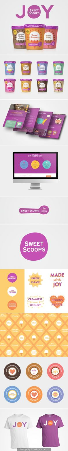 Sweet Scoops Creative Agency: Motto Creative Director & Designer: Sunny Bonnell Brand Strategist & Designer: Ashleigh Hansberger  Illustrator: Kristina Filler  Project Type: Produced, Commercial Work  Client: Sweet Scoops Frozen Yogurt  Location: USA