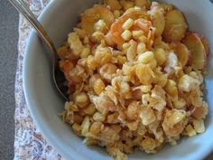 Tahini Smashed Chick Pea Salad (with raw sweet corn and carrots) #vegan #salad