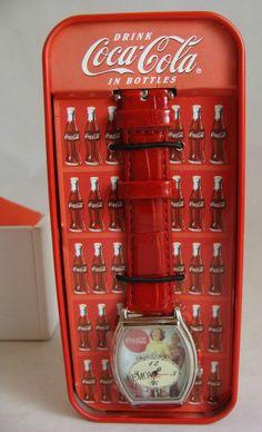 Vintage Coca-Cola Collectible Watch in Refrigerator Tin NIB #cocacola #coke