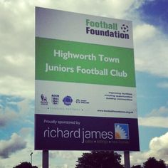 Nice new signage at Highworth Town Juniors Football Club, just gone up on site today.. #richardjames