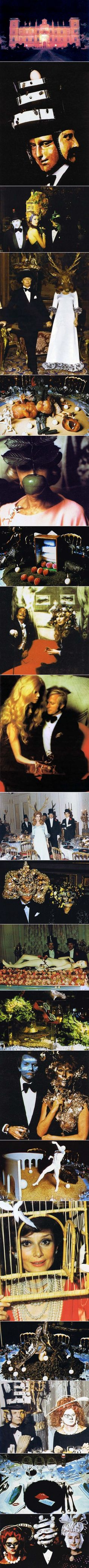 Extraordinary Photos From A 1972 Rothschild Surrealist Dinner Party .  This has given me some ideas for halloween