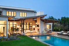 10 Admired Cool Tips: Contemporary House Exterior contemporary farmhouse decor. Design Exterior, Roof Design, Patio Design, House Design, Contemporary Stairs, Contemporary Garden, Contemporary Architecture, Contemporary Design, Contemporary Apartment