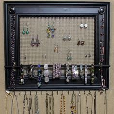 """Jewelry Organizer Display Rack Holder Picture Frame- 19""""x16""""- Extra Large"""