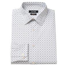 Men's Apt. 9® Slim-Fit Stretch Spread-Collar Dress Shirt, Size: 17-32/33, White