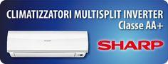 Climatizzatori multisplit a parete SHARP pompa di calore con tecnologia Inverter Classe energetica AA con gas refrigerante ecologico R410A vendita a prezzo di ingrosso