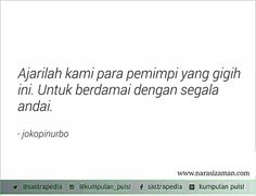 Berdamai dengan segala andai - Joko Pinurbo