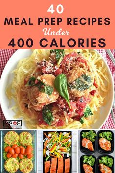 40 Meal Prep Recipes Under 400 Calories Want meal prep recipes that are also low calorie recipes? These 40 easy meal prep recipes won't break your calorie budget because they're all under 400 calories each! You will love all of these clean eating recipes. Low Carb Low Calorie, Low Calorie Meal Plans, Healthy Low Calorie Meals, Low Calorie Dinners, No Calorie Foods, Healthy Meal Prep, Low Calorie Recipes, Diet Recipes, Low Calorie Bread