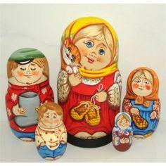 Miss Kitty #Babushka #russiandoll #matryoshka #dollsindolls #decor #traditional
