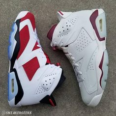 http://SneakersCartel.com Carmine or Maroon 6?  Photo Cred:... #sneakers #shoes #kicks #jordan #lebron #nba #nike #adidas #reebok #airjordan #sneakerhead #fashion #sneakerscartel
