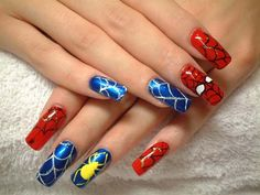 Yes, even Spiderman has his very own nail designs. Ever thought about how geeky but cool it'd be if you had a Spiderman on your nails? Well, now's your chance to make it happen! Check out these amazing spiderman themed nails made by girls from all over the globe.
