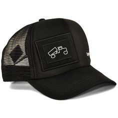 e4bd990c45cc8e Black adult trucker hat for men or women from bigtruck. This curved bill,  snapback, mesh and foam hat will provide you with stylish blocks from the  sun rays ...